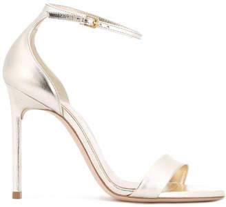 Saint Laurent amber 105 ankle strap sandal platino