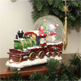 Asstd National Brand 9.5 Santa Claus Train with Snowman Scene Glitterdome