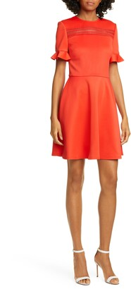 Ted Baker Lace Inset Skater Dress