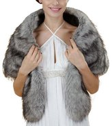 Miami Dress Winter Faux Fur Bride Wrap Cape For Evening Party Wedding Shawls (PJ41)