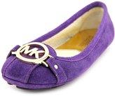 MICHAEL Michael Kors Michael Kors Fulton Moc Driving Ballet Flat Purple/Gold Suede Leather Shoe