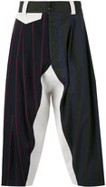 Vivienne Westwood multi-stripes drop-crotch trousers - men - Cotton/Linen/Flax/Virgin Wool - 44