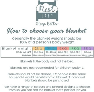 Rest Easy Sleep Better Star Print Weighted Blanket