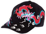 Gucci Velvet Dragon-Embroidered Baseball Cap