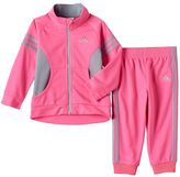 adidas Baby Girl Tricot Track Jacket & Jogger Pants Set