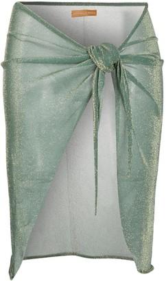 Antonella Rizza Knotted Glittered Skirt