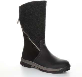 Bos. & Co. Leather and Tweed Rubber Heel Boots - Genie