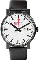 Mondaine Evo Big Steel And Leather Watch
