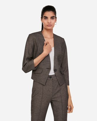 Express One Button Cutaway Blazer