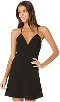 BCBGeneration Cocktail Deep V-Neck Dress GEF6280019 (Black) Women's Dress
