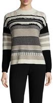 Vivienne Tam Striped Fringe Detail Sweater
