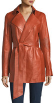 Lafayette 148 New York LEATHER HADLEY TRENCH