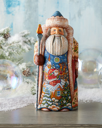 G Debrekht Special Delivery Wood-Carved Santa Limited Edition in Wooden Chest