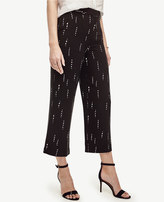 Ann Taylor Tall Stitched Stripe Wide Leg Cropped Pants