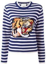 Gucci striped tiger sweater - women - Wool - L