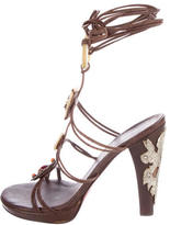 Ungaro Embellished Multistrap Sandals