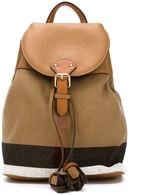 Burberry House check backpack - kids - Cotton/Calf Leather - One Size