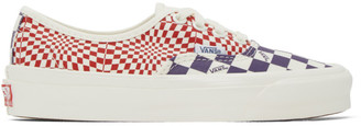 Vans Red and Purple Check OG Authentic LX Sneakers