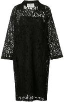 Maison Margiela floral lace polo shirt dress - women - Cotton/Polyamide/Viscose - 40