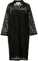 Maison Margiela floral lace polo shirt dress