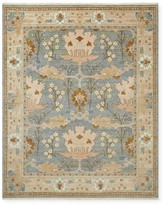 Williams-Sonoma Fleur Hand Knotted Rug, Peacoat/Spice