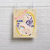 Wood Veneer Personalized Unicorn Wall Art