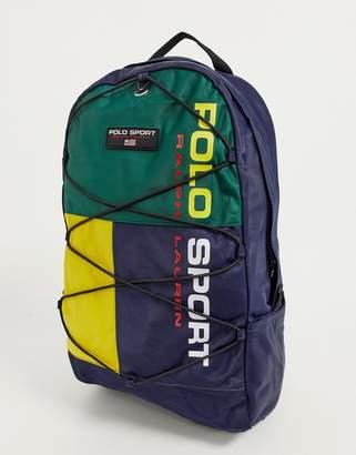 Polo Ralph Lauren backpack in multi logo-Navy