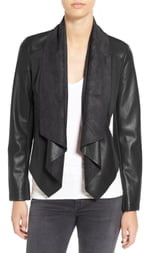 KUT from the Kloth 'Ana' Faux Leather Drape Front Jacket