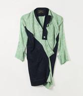 Vivienne Westwood LS ARABESQUE DRESS MINT/NAVY