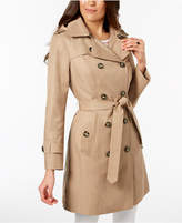 London Fog Petite Belted Lightweight Trench Coat