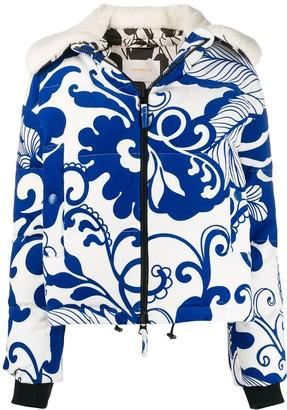 La DoubleJ x Mantero Cortina Marea Blu print jacket