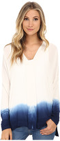 Miraclebody Jeans Eva Dip Dye Envelope Top w/ Body-Shaping Inner Shell