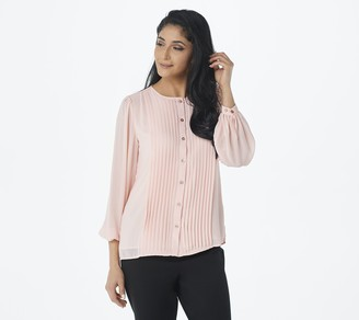 Linea by Louis Dell'Olio Pleated Blouse