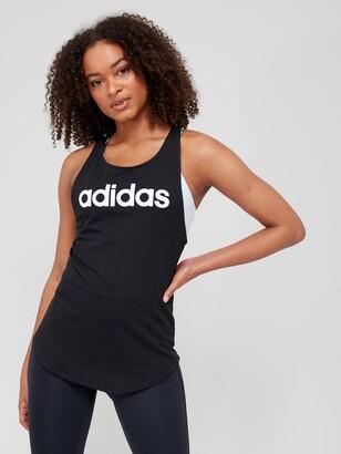 adidas Essentials Linear Tank Top - Black/White