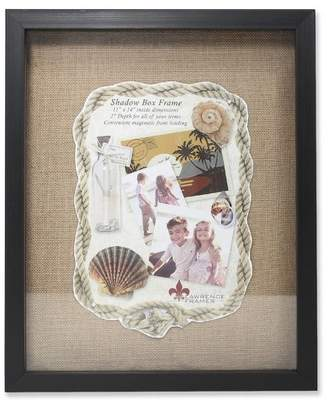"Lawrence Frames 11""x14"" Burlap Display Board Front Hinged Shadow Box Frame Black"