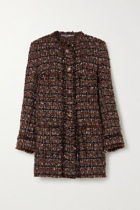 Dolce & Gabbana Boucle-tweed Coat - Black