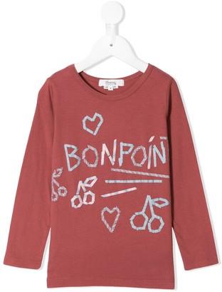 Bonpoint cherry detail logo T-shirt