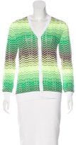 M Missoni Chevron V-Neck Cardigan