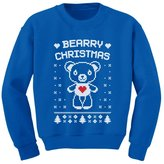 TeeStars - Bearry Christmas Childern's Ugly Xmas Sweater Cute Kids Sweatshirt