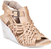 Naughty Monkey Dually Noted Woven Wedge Sandals Women's Shoes