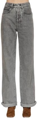 Alberta Ferretti High Waist Cotton Denim Jeans