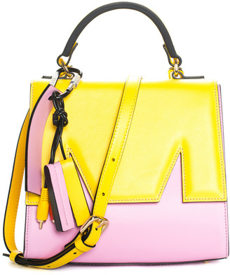 MSGM Pink & Yellow Leather M Satchel Nm, Nwt