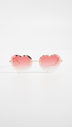 Chloé Rosie Scalloped Heart Sunglasses
