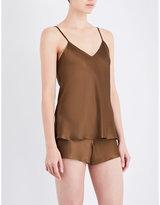 Nk Imode Living-wear silk-satin pyjama shorts