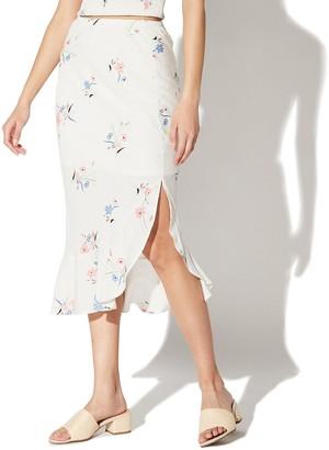 Juniors' Vylette Asymmetrical Ruffle Midi Skirt