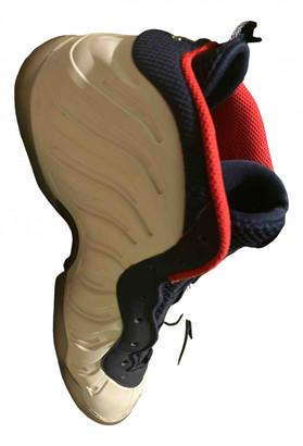 Nike Foamposite White Plastic Lace ups