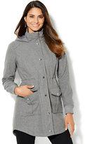 New York & Co. Wool-Blend Hooded Anorak Coat