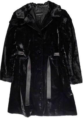 Emporio Armani Black Coat for Women Vintage