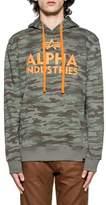 Alpha Industries Men's Green Cotton Sweatshirt.