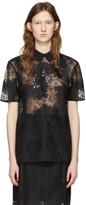 Carven Black Lace Blouse